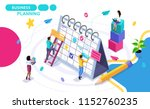 isometric concept of business... | Shutterstock .eps vector #1152760235