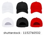 blank baseball cap 3 color... | Shutterstock . vector #1152760532