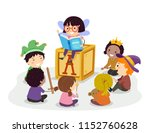 illustration of stickman kids... | Shutterstock .eps vector #1152760628