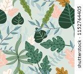 seamless pattern  leaves.    Shutterstock .eps vector #1152764405
