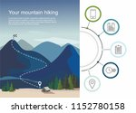 hiking route infographic with a ... | Shutterstock .eps vector #1152780158