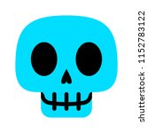 Vector Cartoon Skull Face...