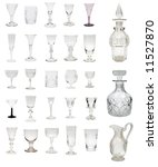 Small photo of Large selection of antique glass drinkware dating from 1730 to 1930 including some rare and valuable George I period examples