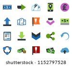 colored vector icon set  ... | Shutterstock .eps vector #1152797528