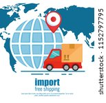 import free shipping set icons | Shutterstock .eps vector #1152797795