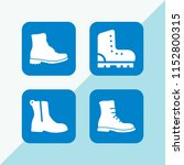 boots icon. 4 boots set with... | Shutterstock .eps vector #1152800315