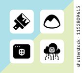 4 sketch icons in vector set....