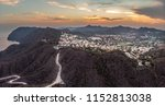 panoramic landscape sunset view ... | Shutterstock . vector #1152813038