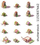 vector isometric restaurant ... | Shutterstock .eps vector #1152837662