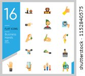 business hand icon set. thumb...   Shutterstock .eps vector #1152840575