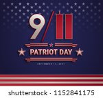 patriot day usa september 11 ... | Shutterstock .eps vector #1152841175