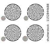 set of labyrinths  mazes...   Shutterstock .eps vector #1152844688