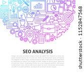 seo analysis line concept.... | Shutterstock .eps vector #1152847568