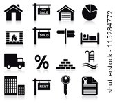real estate icons | Shutterstock .eps vector #115284772