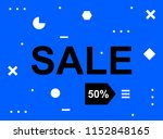 sale banner template design ... | Shutterstock .eps vector #1152848165