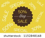 sale banner template design ... | Shutterstock .eps vector #1152848168