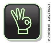 okay icon. ok hand sign....