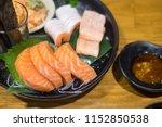 delicious japanese sashimi... | Shutterstock . vector #1152850538