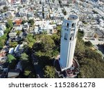 aerial view coit tower and... | Shutterstock . vector #1152861278