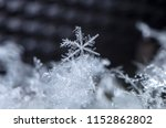 natural snowflakes on snow | Shutterstock . vector #1152862802