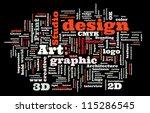 graphic design studio. trendy... | Shutterstock .eps vector #115286545