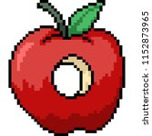 vector pixel art apple hole... | Shutterstock .eps vector #1152873965