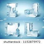 3d render of shiny frozen ice... | Shutterstock . vector #1152875972