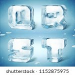 3d render of shiny frozen ice... | Shutterstock . vector #1152875975