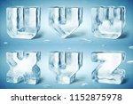 3d render of shiny frozen ice... | Shutterstock . vector #1152875978