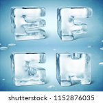 3d render of shiny frozen ice... | Shutterstock . vector #1152876035