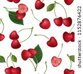 seamless pattern with red...   Shutterstock . vector #1152876422