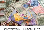 close up on pile of many bank... | Shutterstock . vector #1152881195