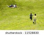 boys running to their... | Shutterstock . vector #11528830