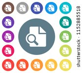 preview flat white icons on... | Shutterstock .eps vector #1152885518