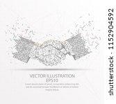 business handshake abstract... | Shutterstock .eps vector #1152904592