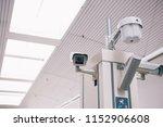 security  cctv camera in the...   Shutterstock . vector #1152906608