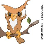 cheerful owl. cartoon | Shutterstock .eps vector #115290802