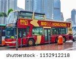 hong kong  june 2018  big bus... | Shutterstock . vector #1152912218