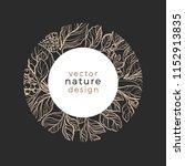 vector template design organic... | Shutterstock .eps vector #1152913835