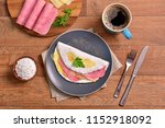 tapioca filled with ham and... | Shutterstock . vector #1152918092