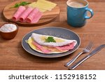 tapioca filled with ham and... | Shutterstock . vector #1152918152