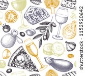 seamless pattern with italian... | Shutterstock .eps vector #1152920642