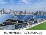 solar and modern city skyline  | Shutterstock . vector #1152939308