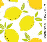 summer seamless pattern with... | Shutterstock .eps vector #1152941375