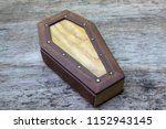 coffin leather journal  a book...   Shutterstock . vector #1152943145