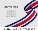 waving flag of costa rica.... | Shutterstock .eps vector #1152949592