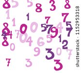 falling color numbers on white... | Shutterstock .eps vector #1152953318