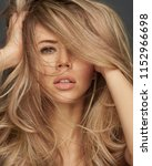 close up portrait of blond... | Shutterstock . vector #1152966698