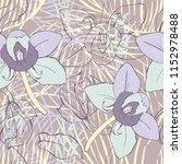 floral seamless pattern with... | Shutterstock .eps vector #1152978488