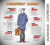 fashion infographic with model... | Shutterstock .eps vector #1152980285